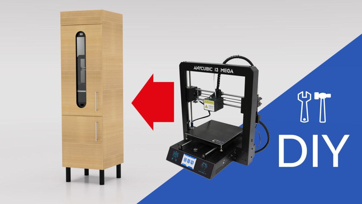 3D-Drucker Gehäuse aus Küchenschrank bauen