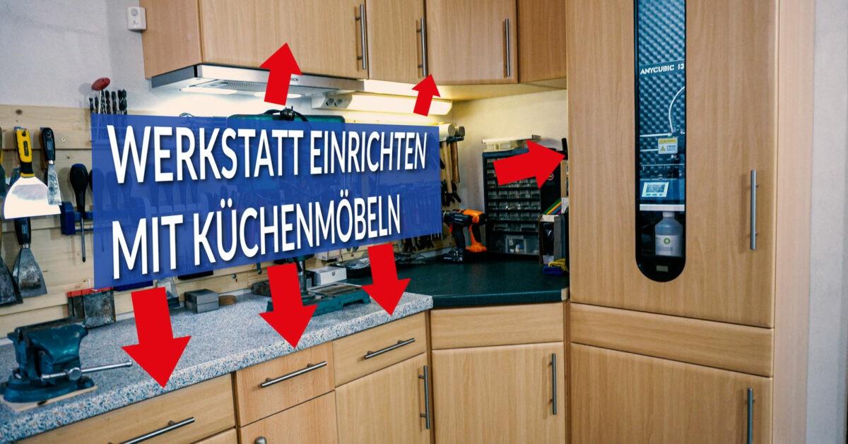 Werkstatt einrichten mit Küchenmöbeln