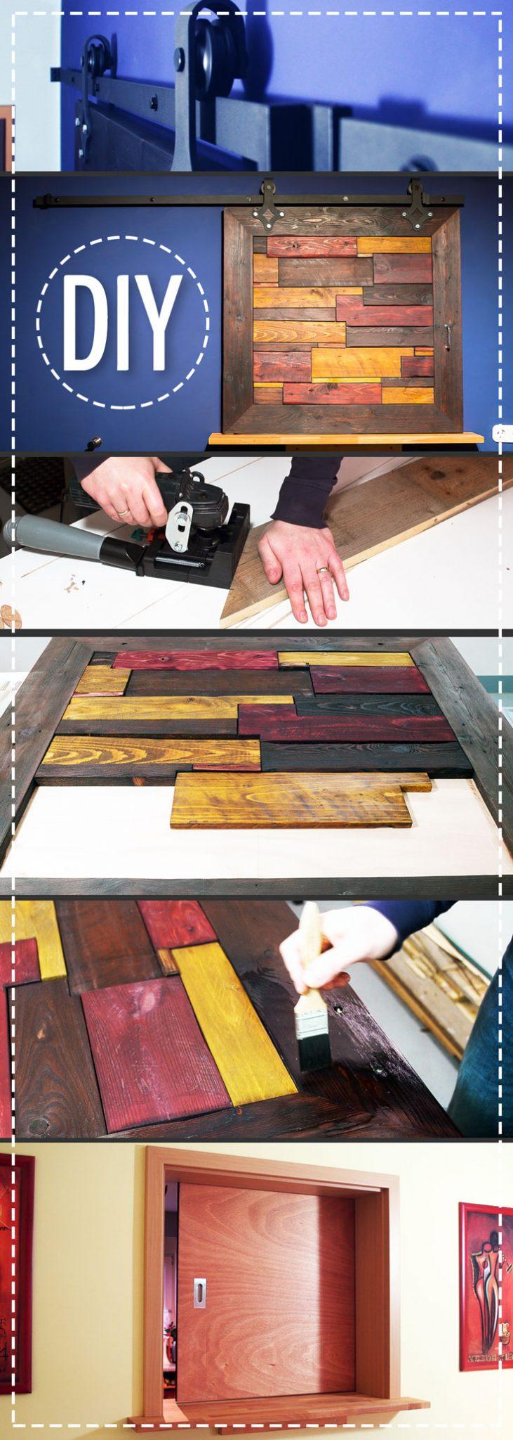 Schiebetür aus Palettenholz selber bauen
